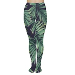 Green Tropical Flora Tights by goljakoff