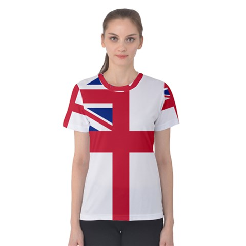 White Ensign Of Royal Navy Women s Cotton Tee by abbeyz71