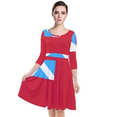 Scottish Red Ensign, Middle Ages-1707 Quarter Sleeve Waist Band Dress by abbeyz71