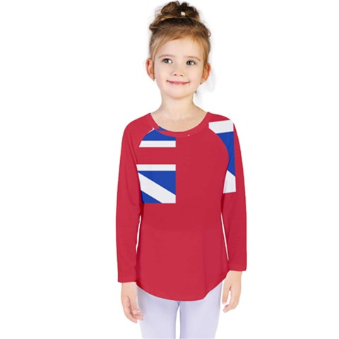 British Red Ensign, 1707–1801 Kids  Long Sleeve Tee by abbeyz71