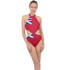 British Red Ensign, 1707–1801 Halter Side Cut Swimsuit by abbeyz71