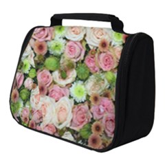 Pastel Pink Roses Full Print Travel Pouch (small)