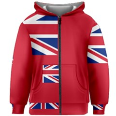 Civil Ensign Of United Kingdom Kids  Zipper Hoodie Without Drawstring by abbeyz71