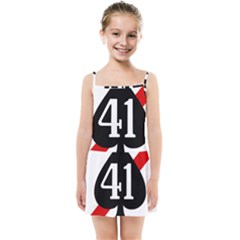 United States Navy Strike Fighter Squadron 41 Kids  Summer Sun Dress by abbeyz71