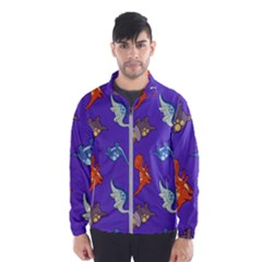 Dinosaurs   Periwinkle Windbreaker (men)