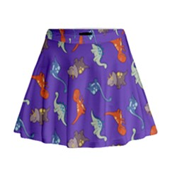 Dinosaurs   Periwinkle Mini Flare Skirt by WensdaiAddamns