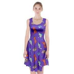 Dinosaurs   Periwinkle Racerback Midi Dress by WensdaiAddamns