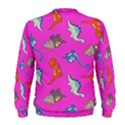 Dinosaurs - Fuchsia Men s Sweatshirt View2