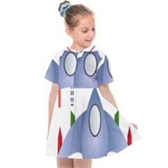 Spaceship Rocket Space Game Cosmos Kids  Sailor Dress by Wegoenart