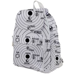 Earth Geocentric Jupiter Mars Top Flap Backpack