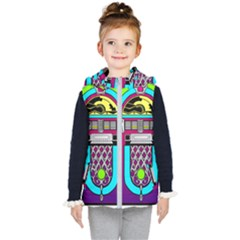 Jukebox Music Music Player Kids  Hooded Puffer Vest