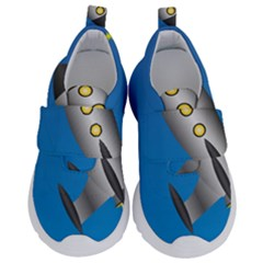 Rocket Spaceship Space Travel Nasa Kids  Velcro No Lace Shoes