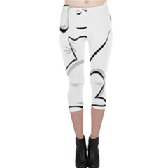 Dog Cat Animal Pet Cute Capri Leggings