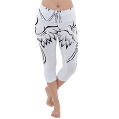 Phoenix Mythical Bird Animal Lightweight Velour Capri Yoga Leggings