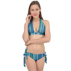 Painted Stripe Tie It Up Bikini Set by dressshop
