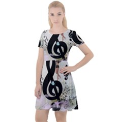 Dancing On A Clef Cap Sleeve Velour Dress  by FantasyWorld7