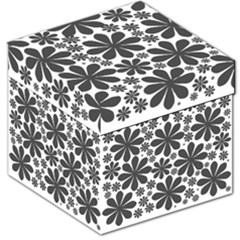 Black & White Storage Stool 12