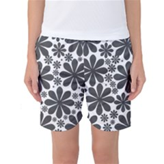 Black & White Women s Basketball Shorts
