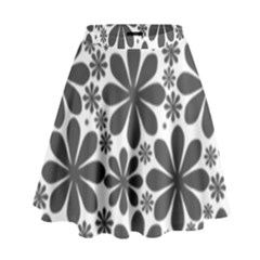 Black & White High Waist Skirt