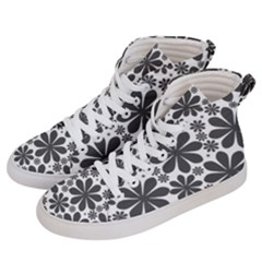 Black & White Women s Hi Top Skate Sneakers by zappwaits