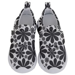 Black & White Kids  Velcro No Lace Shoes by zappwaits