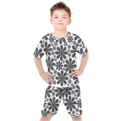 Black & White Kids  Tee And Shorts Set