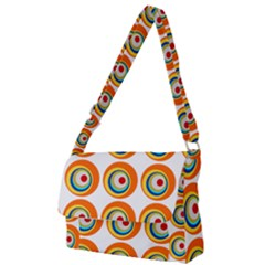 Retro Full Print Messenger Bag