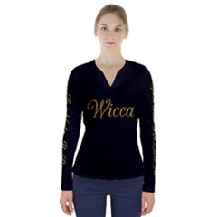 Wicca   V-neck Long Sleeve Top by GhostGear