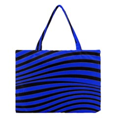 Black And Blue Linear Abstract Print Medium Tote Bag by dflcprintsclothing