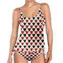 Red & Black Hearts - Eggshell Tankini Set View1