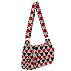Red & Black Hearts - Eggshell Post Office Delivery Bag by WensdaiAmbrose