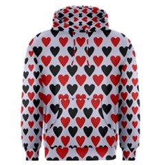 Red & White Hearts  Lilac Blue Men s Pullover Hoodie