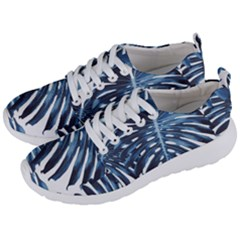Blue Monstera Leaves Men s Lightweight Sports Shoes by goljakoff
