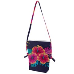 Neon Flowers Folding Shoulder Bag by goljakoff