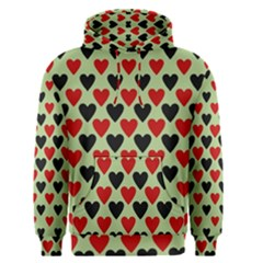 Red & Black Hearts   Olive Men s Pullover Hoodie