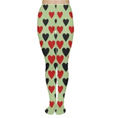 Red & Black Hearts   Olive Tights by WensdaiAddamns