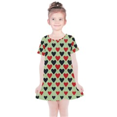 Red & Black Hearts - Olive Kids  Simple Cotton Dress by WensdaiAmbrose