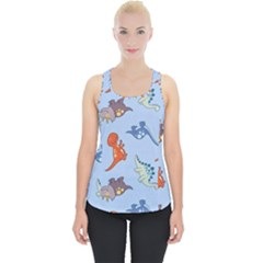 Dinosaurs   Baby Blue Piece Up Tank Top