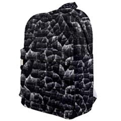 Black And White Grunge Cracked Abstract Print Classic Backpack by dflcprintsclothing
