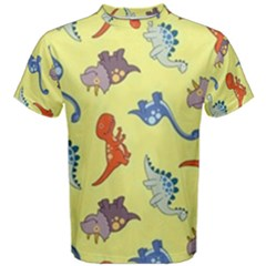 Dinosaurs   Yellow Finch Men s Cotton Tee