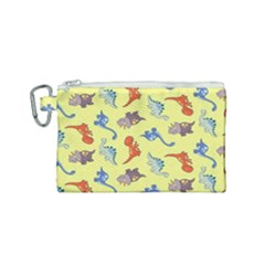 Dinosaurs   Yellow Finch Canvas Cosmetic Bag (small) by WensdaiAddamns