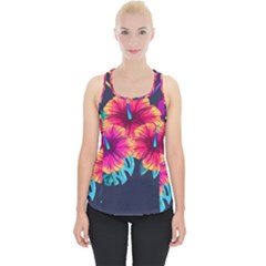 Neon Flowers Piece Up Tank Top by goljakoff