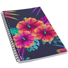 Neon Flowers 5 5  X 8 5  Notebook by goljakoff