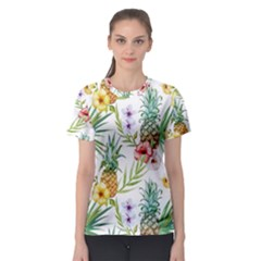 Tropical Pineapples Women s Sport Mesh Tee by goljakoff
