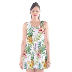 Tropical Pineapples Scoop Neck Skater Dress by goljakoff