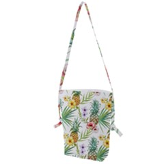 Tropical Pineapples Folding Shoulder Bag by goljakoff
