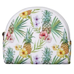 Tropical Pineapples Horseshoe Style Canvas Pouch by goljakoff