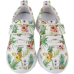 Tropical Pineapples Kids  Velcro Strap Shoes by goljakoff