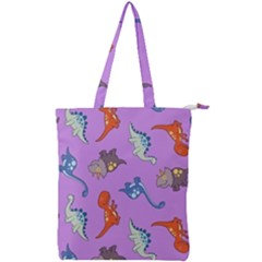 Dinosaurs   Violet Double Zip Up Tote Bag by WensdaiAddamns