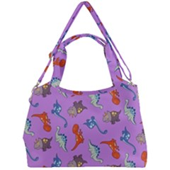 Dinosaurs   Violet Double Compartment Shoulder Bag by WensdaiAddamns